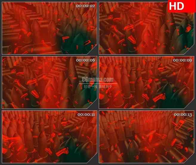 BG3435血色背景 旋转的子弹led大屏背景高清视频素材