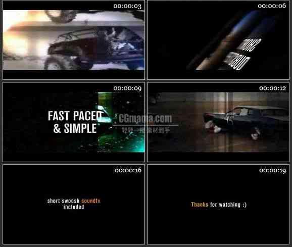 AE2058-快节奏节目预告电视包装模板