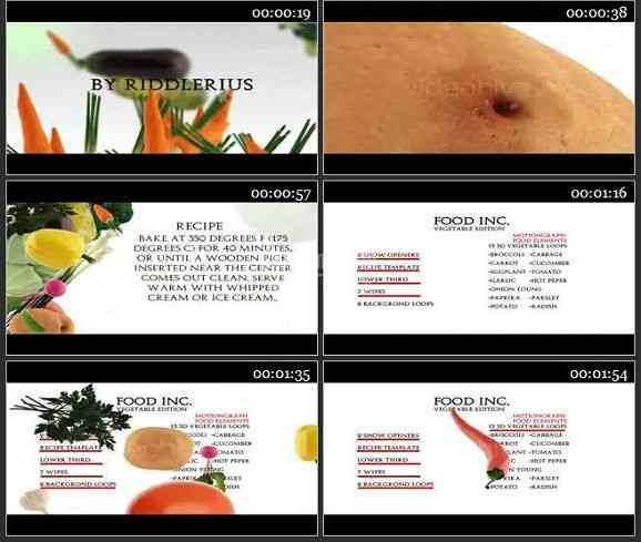 AE2079-蔬菜版食品公司广告宣传模板
