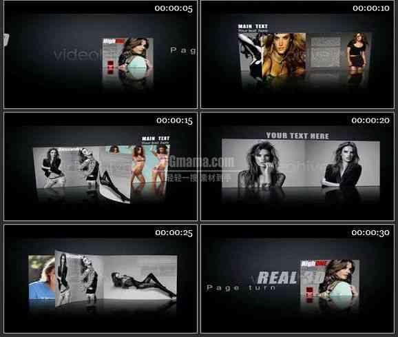 AE2095-3D时尚杂志广告 图片展示