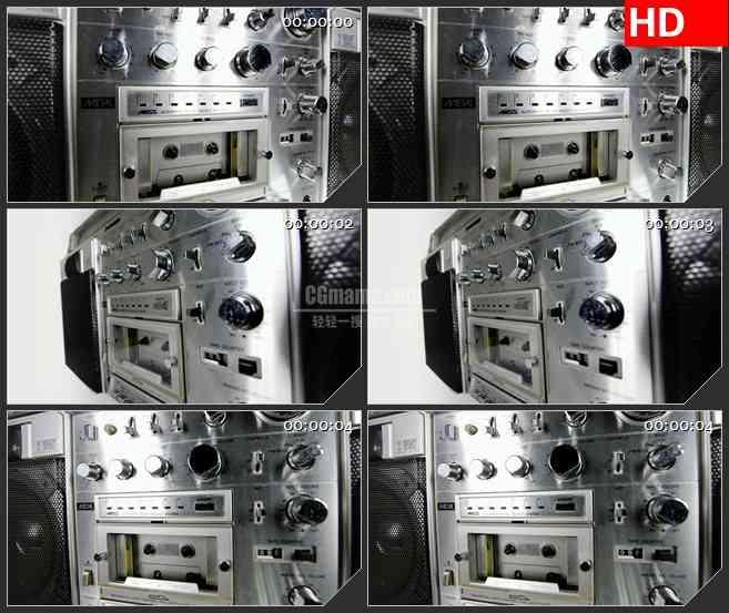 BG3442摇摆的老式录音机音箱led大屏背景高清视频素材