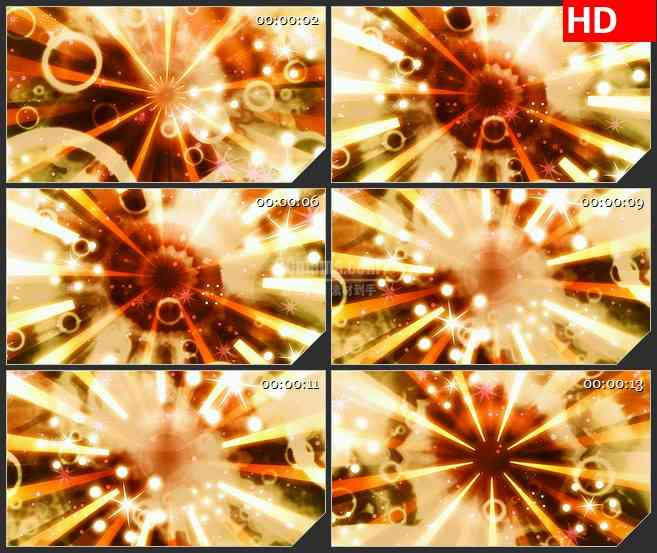BG3444耀眼的复古星爆led大屏背景高清视频素材