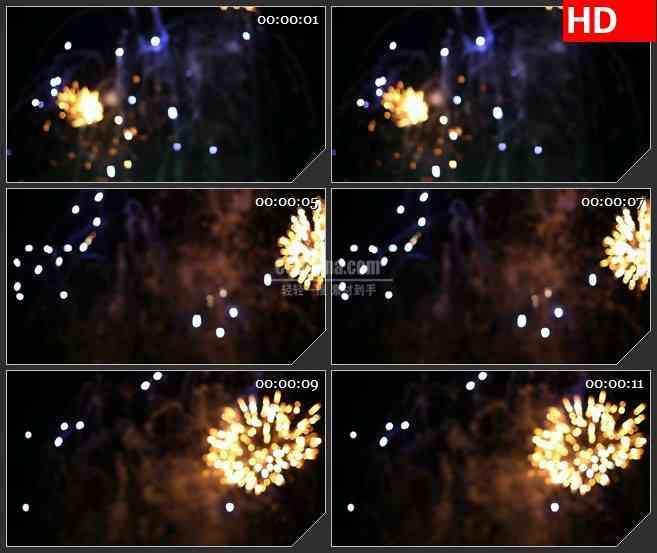 BG3446耀眼的礼花  美丽夜空led大屏背景高清视频素材