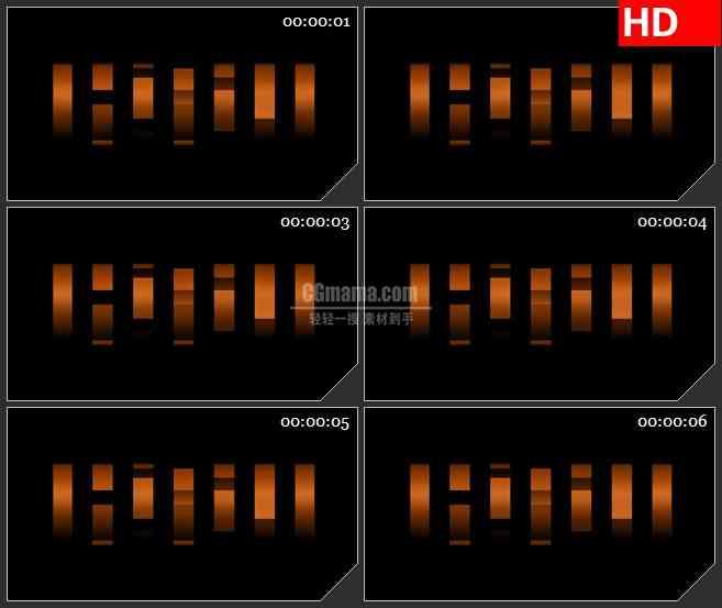 BG3449夜景 棕色亮块led大屏背景高清视频素材