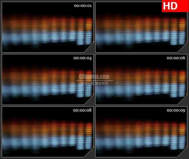 BG3459音乐元素  模糊的音频均衡器led大屏背景高清视频素材