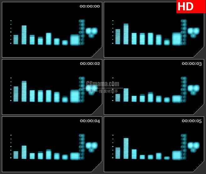 BG3462音乐元素 跳动的音标led大屏背景高清视频素材