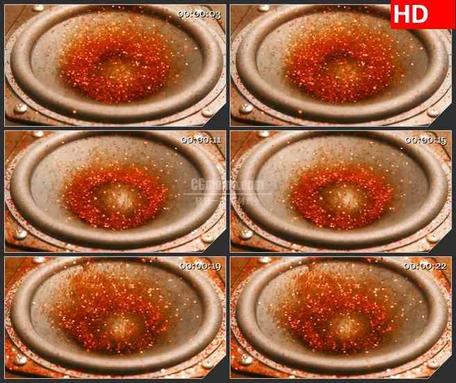 BG3473韵律跳动的音箱 红色亮片led大屏背景高清视频素材