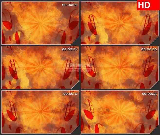 BG3478转动的电影放映盘 火光背景led大屏背景高清视频素材