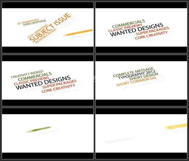 AE3339-趣味彩色标题栏动画 文本展示 宣传介绍片