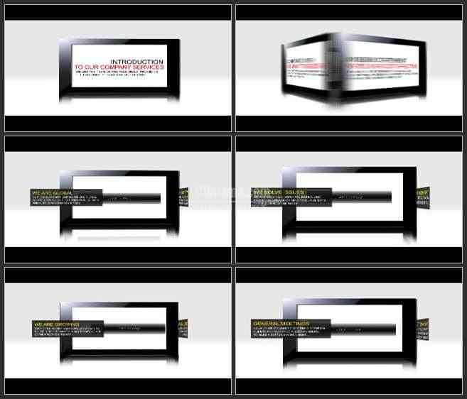 AE3355-旋转的画框 文本展示 宣传片