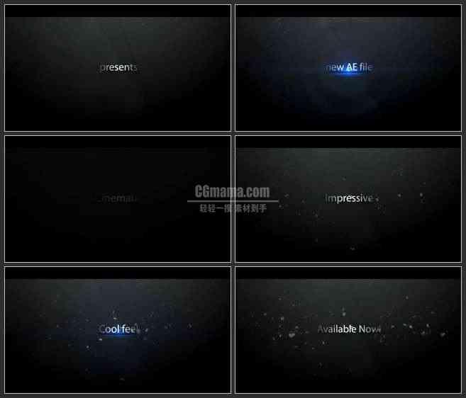 AE3369-幽暗空间 文本展示 LOGO展示 震撼片头