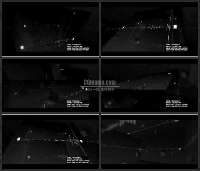 ae3370-led舞台背景 音乐素材 炫酷黑色音频波动