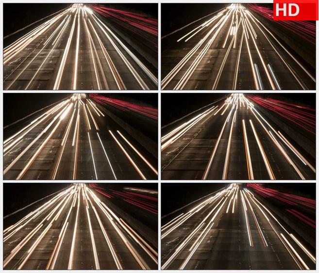 ZY1641快速行驶的车大灯延时高清实拍视频素材