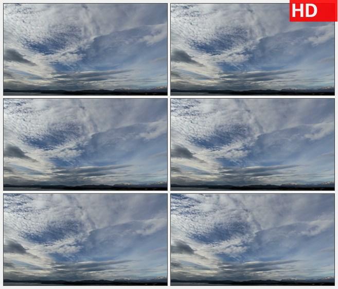 ZY1662明亮蓝天时间流逝白云流动高清实拍视频素材
