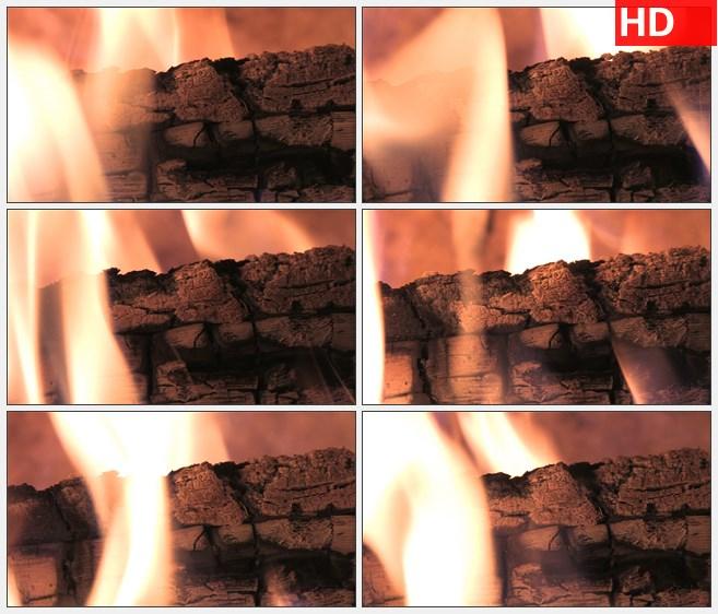 ZY1690燃烧的火焰篝火特写高清实拍视频素材高清实拍视频素材