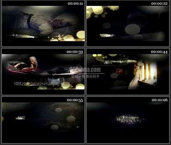 AE2120-金色粒子装饰风格相片图文展示