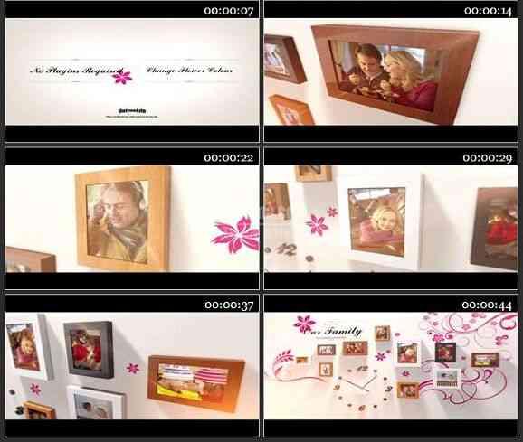 AE2123-相片墙婚庆儿童家庭相册