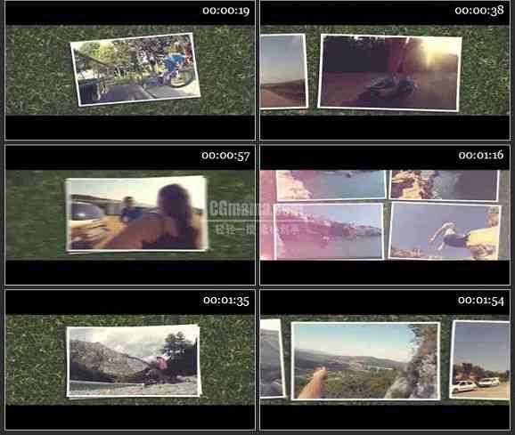AE2149-草地上相片展示