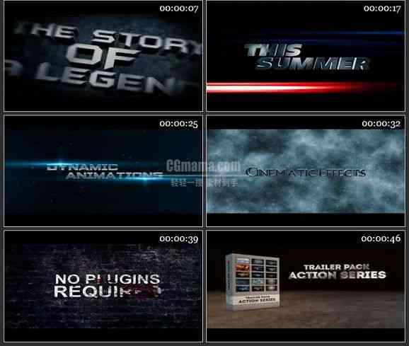 AE2185-风雨雷电15款电影标题展示 LOGO展示