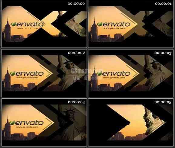 AE2192-新闻过渡电视包LOGO展示