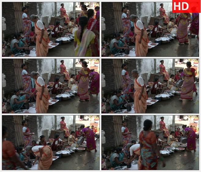 ZY1737市场上印度妇女在卖鱼高清实拍视频素材