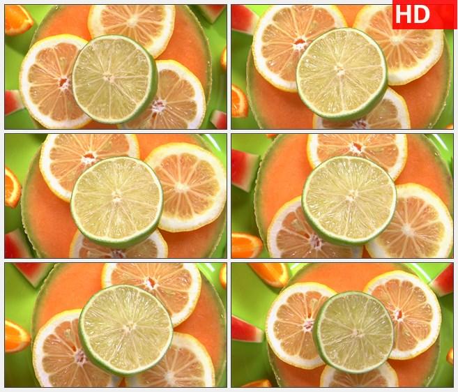 ZY1743水果拼盘切开的橙子高清实拍视频素材高清实拍视频素材