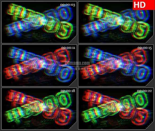 BG3492变动的数字光圈led大屏背景高清视频素材