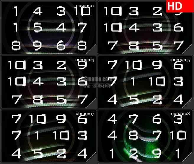 BG3496变化的数字led大屏背景高清视频素材
