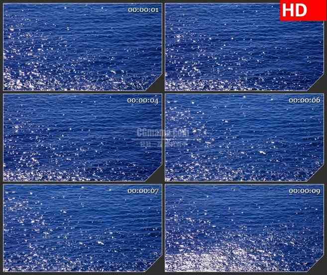 bg3503波光粼粼海面水面led大屏背景高清视频素材