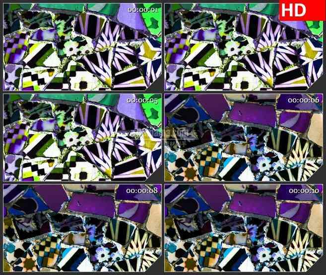 BG3507彩色的瓷器碎片 动态led大屏背景高清视频素材