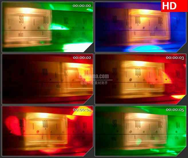 BG3517彩色光谱扫描仪led大屏背景高清视频素材