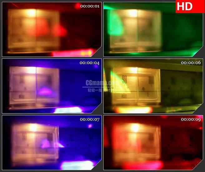 BG3518彩色光谱收音机的刻度盘led大屏背景高清视频素材