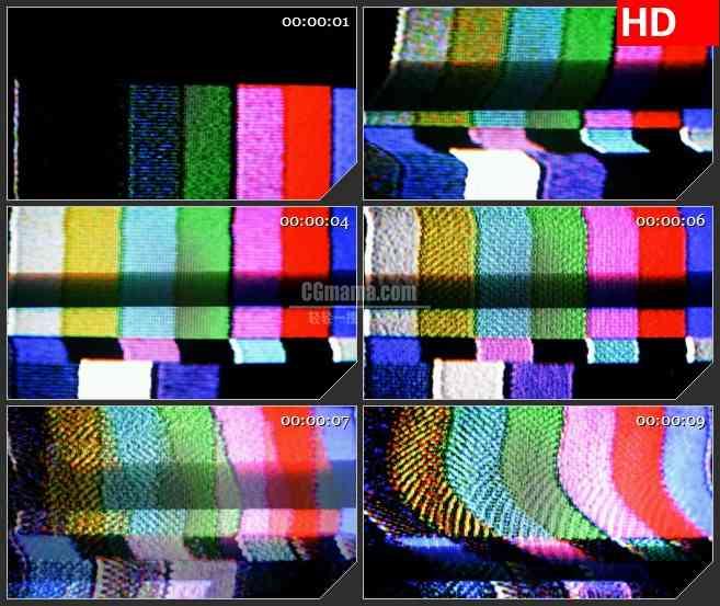 BG3558电视跳帧彩条彩色方块led大屏背景高清视频素材