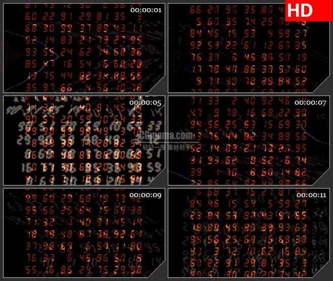 BG3564电子计数墙led大屏背景高清视频素材