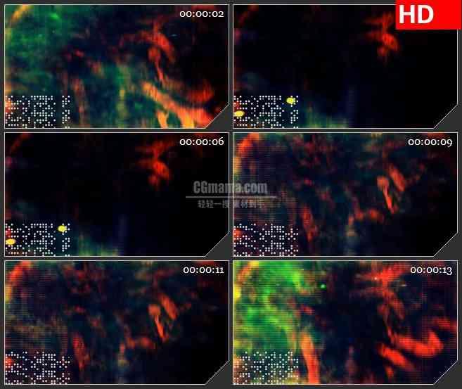 BG3576动态光背 复杂抽象的图形led大屏背景高清视频素材