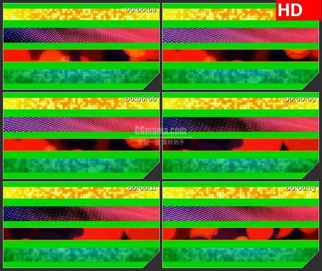 BG3581动态光背 切割的画面led大屏背景高清视频素材