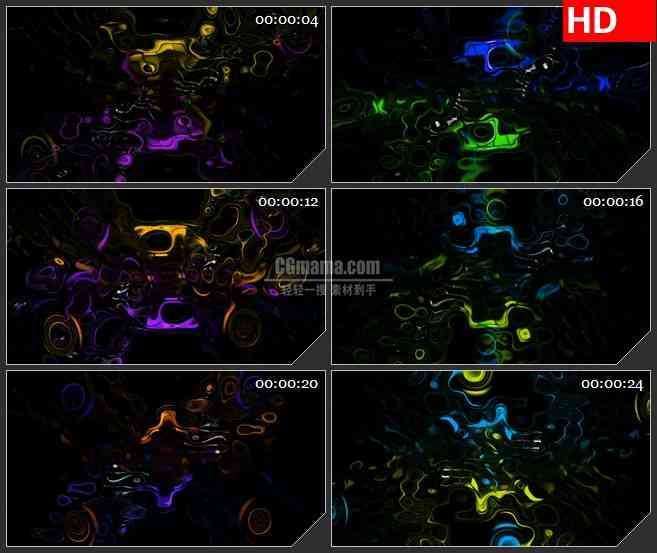 BG3588多彩变幻的液体色调led大屏背景高清视频素材