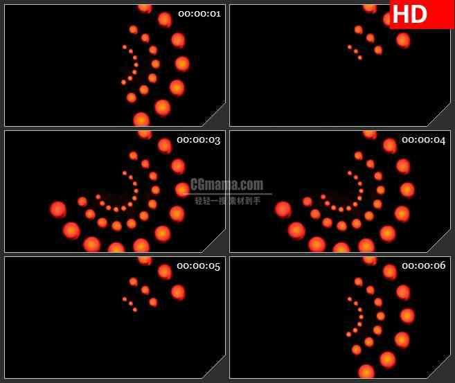 BG3596放射状排列的红色小球led大屏背景高清视频素材