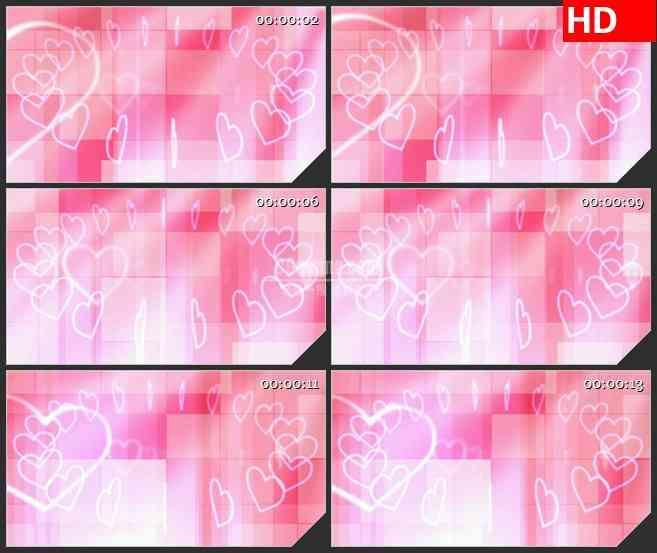 BG3602粉色心形旋转led大屏背景高清视频素材