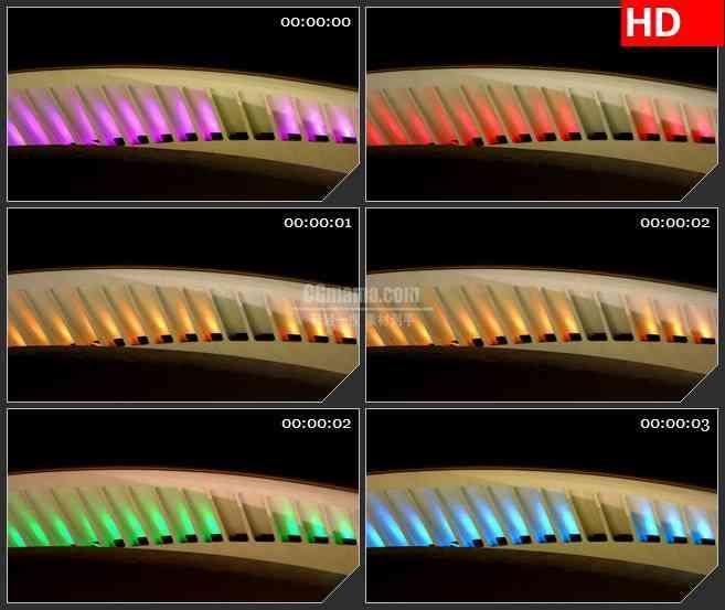 BG3605丰富多彩的拱led大屏背景高清视频素材