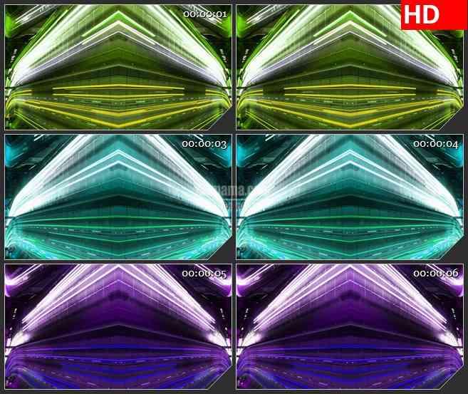 BG3607风驰电掣多彩城市霓虹都市夜景led大屏背景高清视频素材