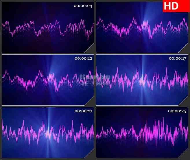 BG3611疯狂的电波led大屏背景高清视频素材