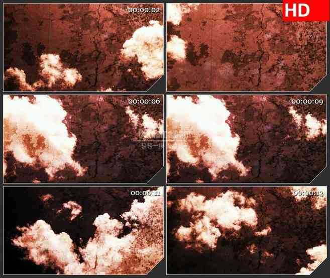 BG3613覆盖在岩石上的云朵led大屏背景高清视频素材