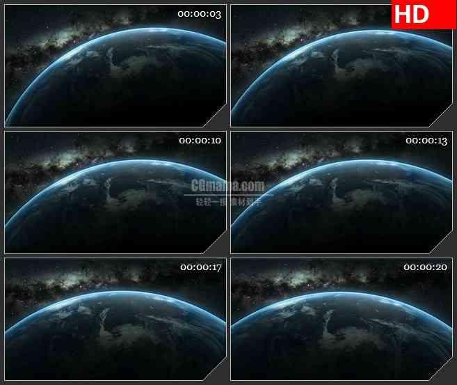 BG3624浩瀚宇宙太空地球表面led大屏背景高清视频素材