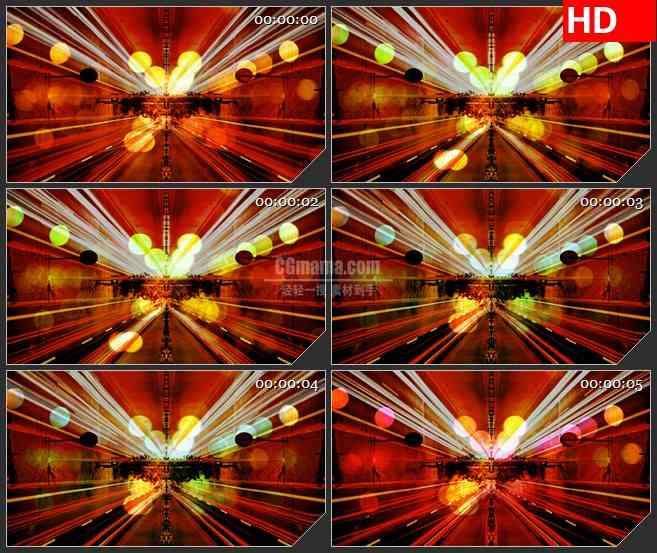 bg3629红色动感闪动光线灯光led大屏背景高清视频素材