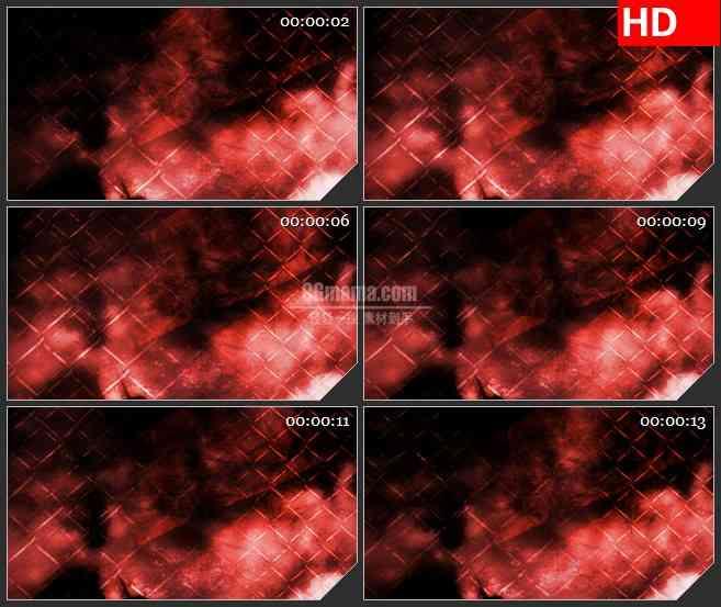 BG3633红色烟雾 铁丝网led大屏背景高清视频素材