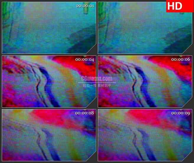 BG3638混乱的调色盘led大屏背景高清视频素材