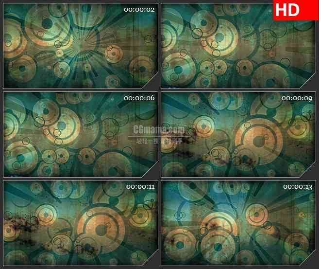 BG3645几何图形 动态led大屏背景高清视频素材