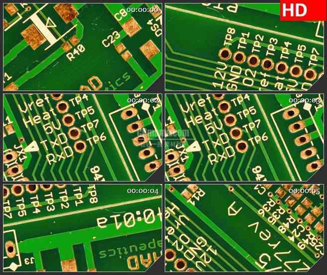 bg3650计算机电路板led大屏背景高清视频素材