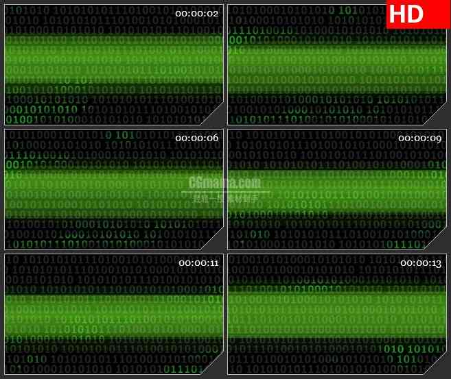 BG3652计算机二进制代码集锦2led大屏背景高清视频素材